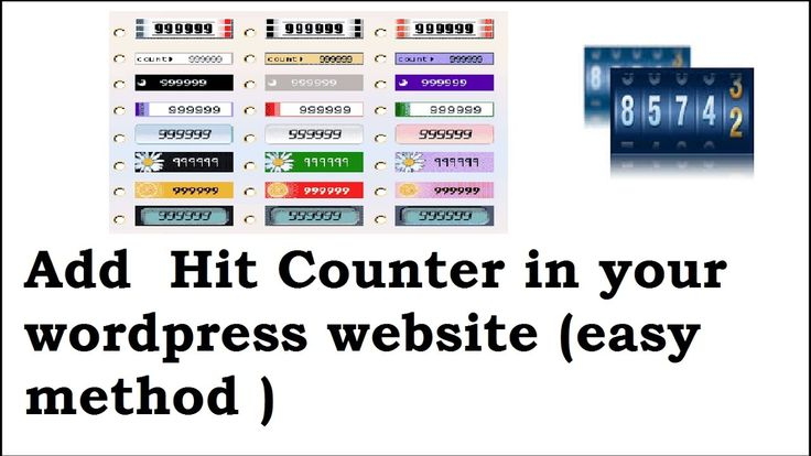 awesome How to add website visitor counter to your wordpress website/blog Check more at http://sherwoodparkweather.com/how-to-add-website-visitor-counter-to-your-wordpress-websiteblog/