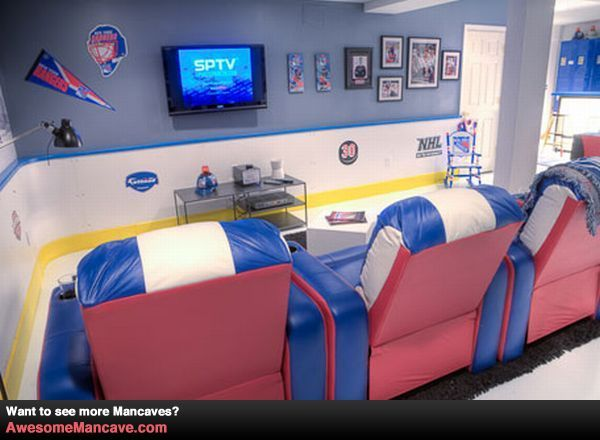 17 best images about man cave on pinterest caves kids for Kids hockey room
