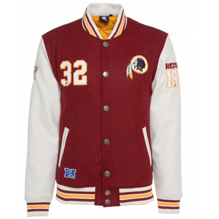 Majestic NFL Washington Redskins Varsity Jacket £109.99  Varsity  Pinterest  Washington