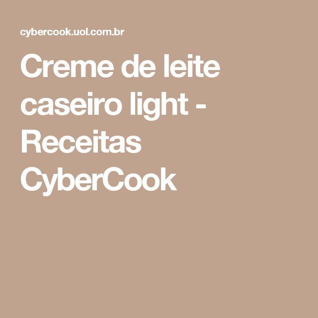 Creme de leite caseiro light - Receitas CyberCook