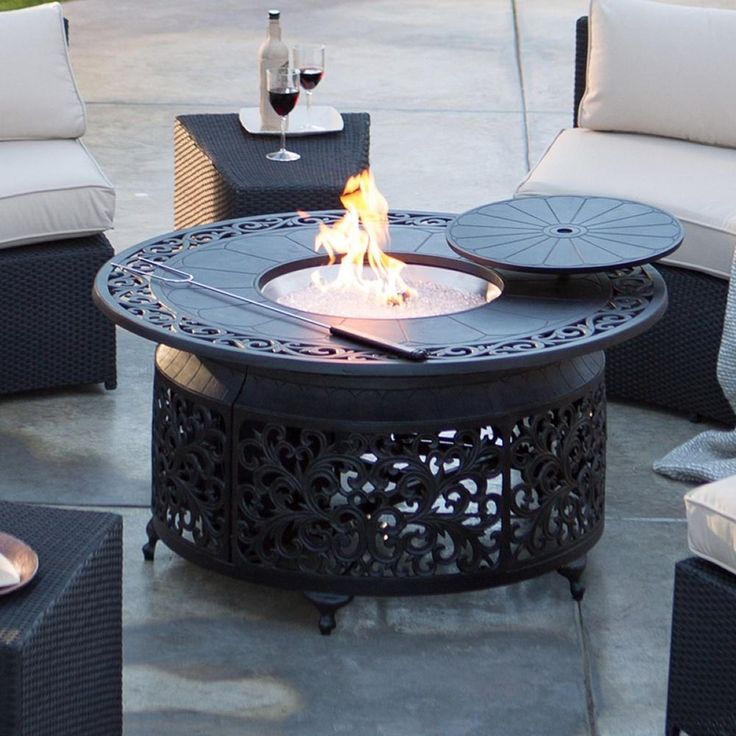 This fire pit is perfect for pairing with your outdoor deep seating collection.