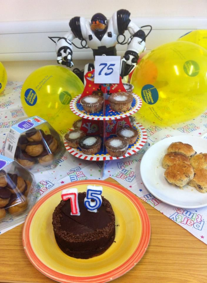 Cakes in Liverpool office