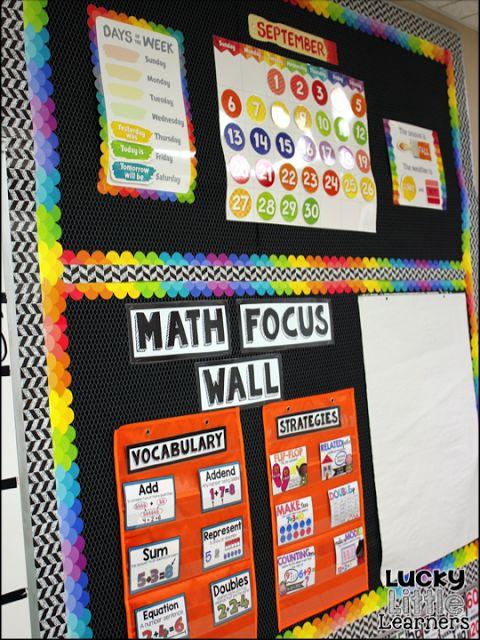 Math Classroom Wall Decorations ~ Best ideas about math focus walls on pinterest