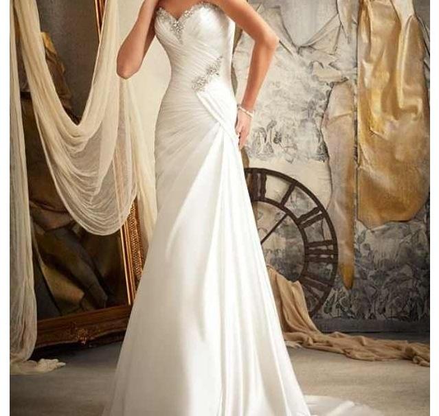 1000+ Ideas About Straight Wedding Dresses On Pinterest