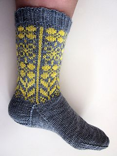 Sweet socks featuring a floral motif on the leg.