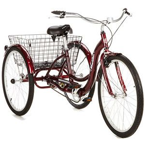 "26"" Schwinn Meridian Adult Tricycle, Dark Cherry"