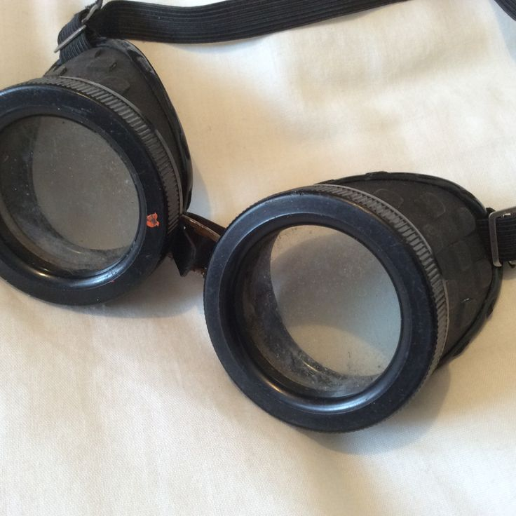Vintage Copper Welding Goggles by ukVintageDeco on Etsy