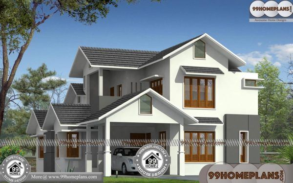 French House Design 90 Double Floor House Elevation Photos Online House Elevation Indian House Plans House Design