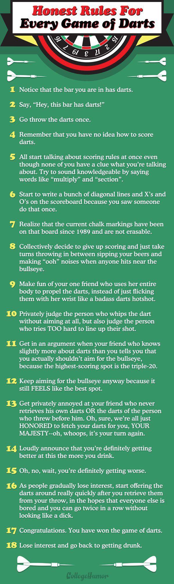 How to play darts.   |   CollegeHumor.com