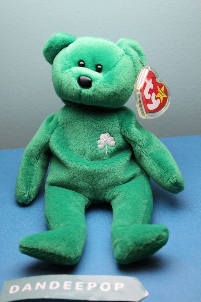Ty Beanie Baby Original Retired Erin Bear Irish Shamrock  Ty  beaniebaby   beniebabie  erin  irish  bear  retired  dandeepop Find me at dandeepop.com 6e479766fd5