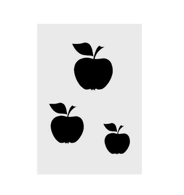 kunststoff schablone Äpfel 3er din a4 stärke 019 mm