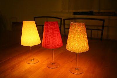 Borospohár-lámpások