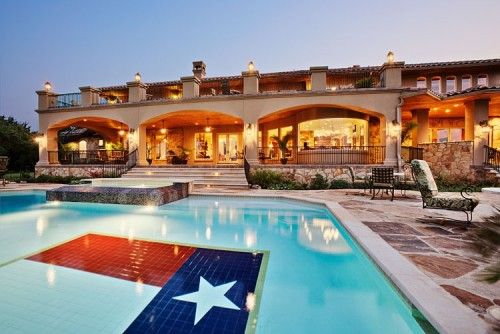 I want this in my backyard one day!: Flag Pool, Dream Homes, Dream House, Future House, Pools, Texas Flag, Texas Pool