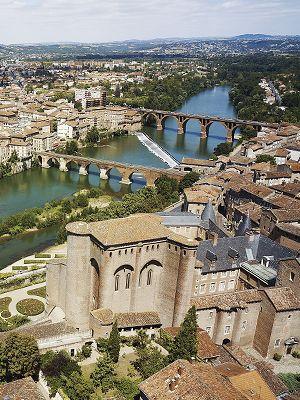 Albi in Southwest France on the Tarn River