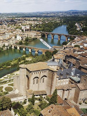 Albi on the Tarn River, France. a beautiful place