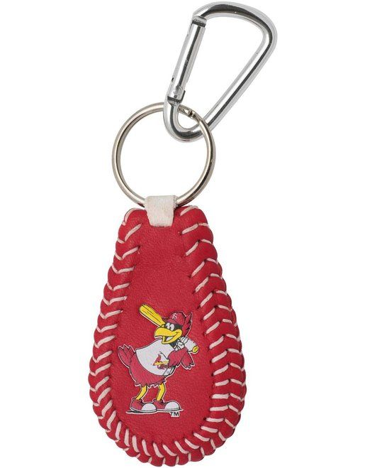 St. Louis Cardinals Fred Bird Mascot Team Color Baseball Keychain Z157-4421400588