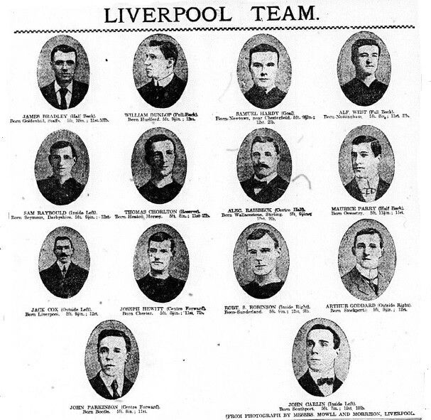 Liverpool team pics in 1906.