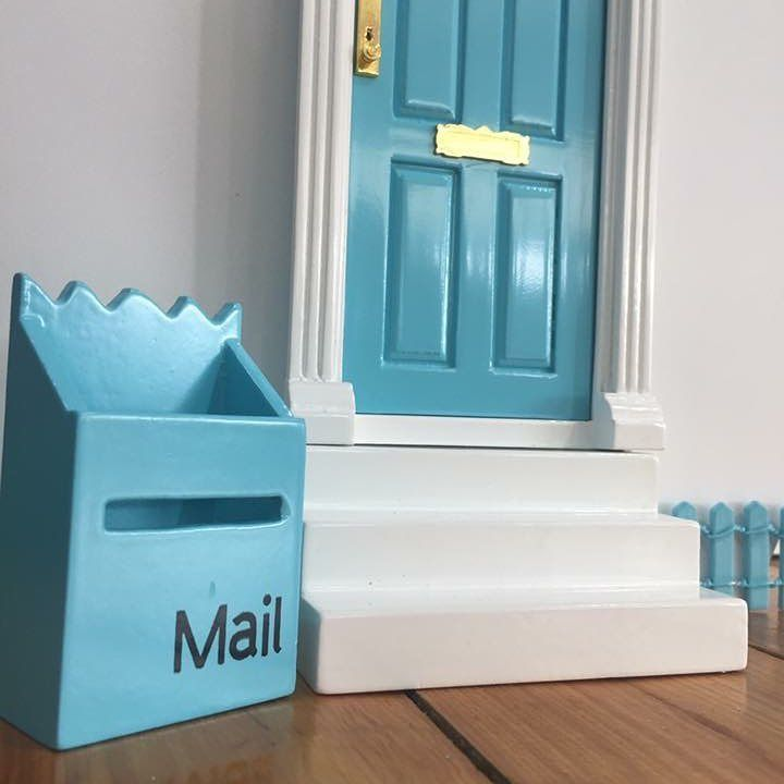 Fairy Door, Mailbox and Stairs.