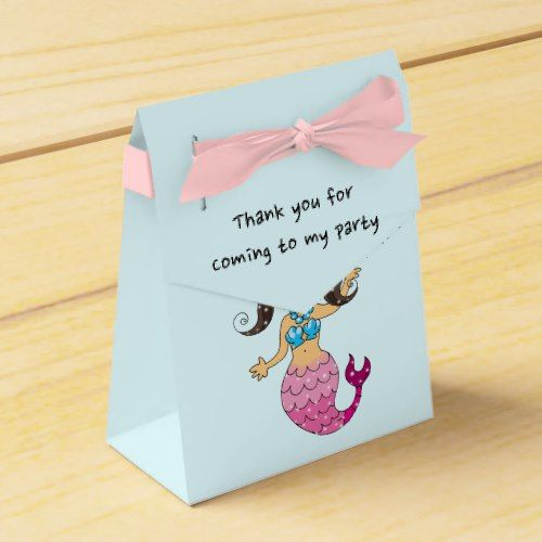 Thank you for coming to my party-mermaid princess favor box