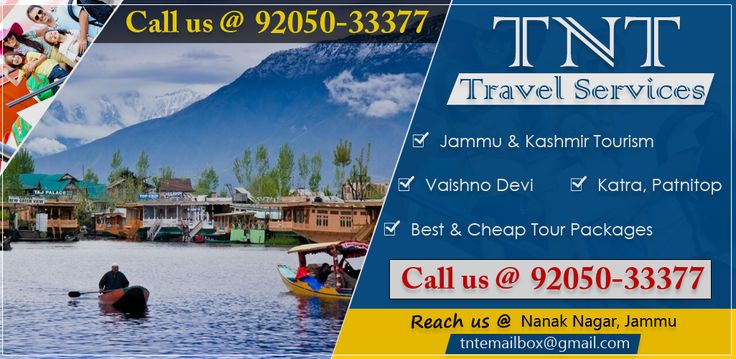 Book well planned Jammu & Kashmir, Vaishno Devi, Katra, patnitop tour packages with TNT Travel services & make your holidays memorable.For more details visit here