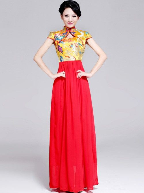 Maxi Cheongsam / Qipao Chinese Wedding Dress