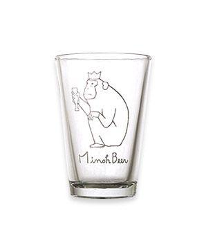 箕面ビール: おさるグラス 小