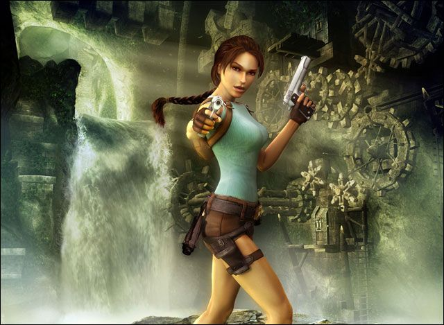 Lara Croft in Tomb Raider , note the shorts and overly proportioned boobs that seem to get bigger in every game. Description from feminist-perspectives-on-media.blogspot.co.uk. I searched for this on bing.com/images