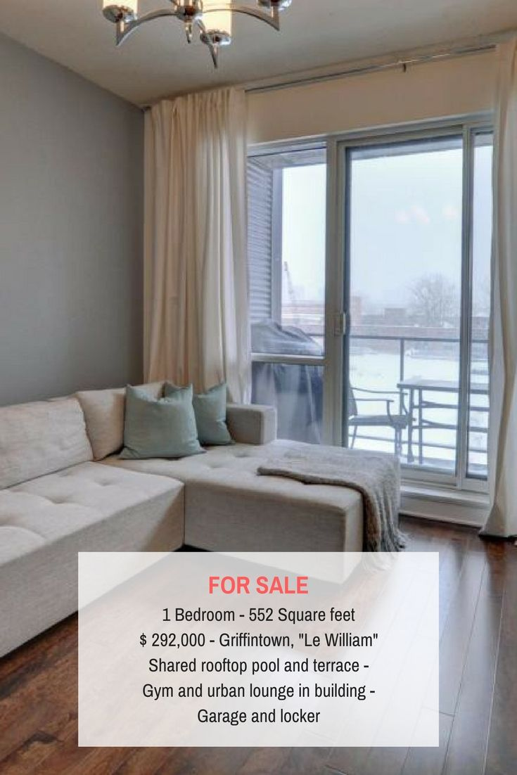 Modern Griffintown condo with open living area for sale in prestigious Le William building. #Condo #Griffintown #LeWilliam #Montreal #Luxury #DuqueSimms #RealEstate #Realtor #Broker