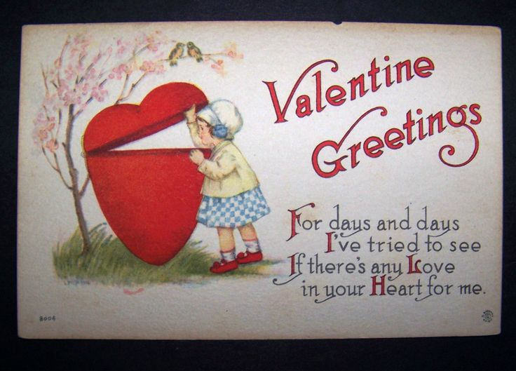 Heart Quotes With Pictures And Cards: Valentine Greetings Postcard