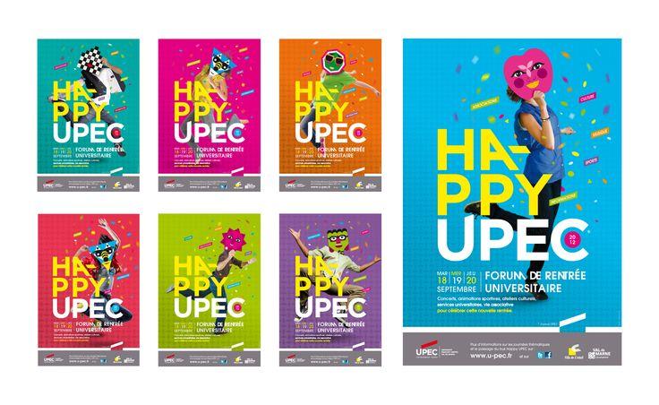 Compilation des 7 affiches réalisées pour le forum de rentrée de l'université Paris est créteil