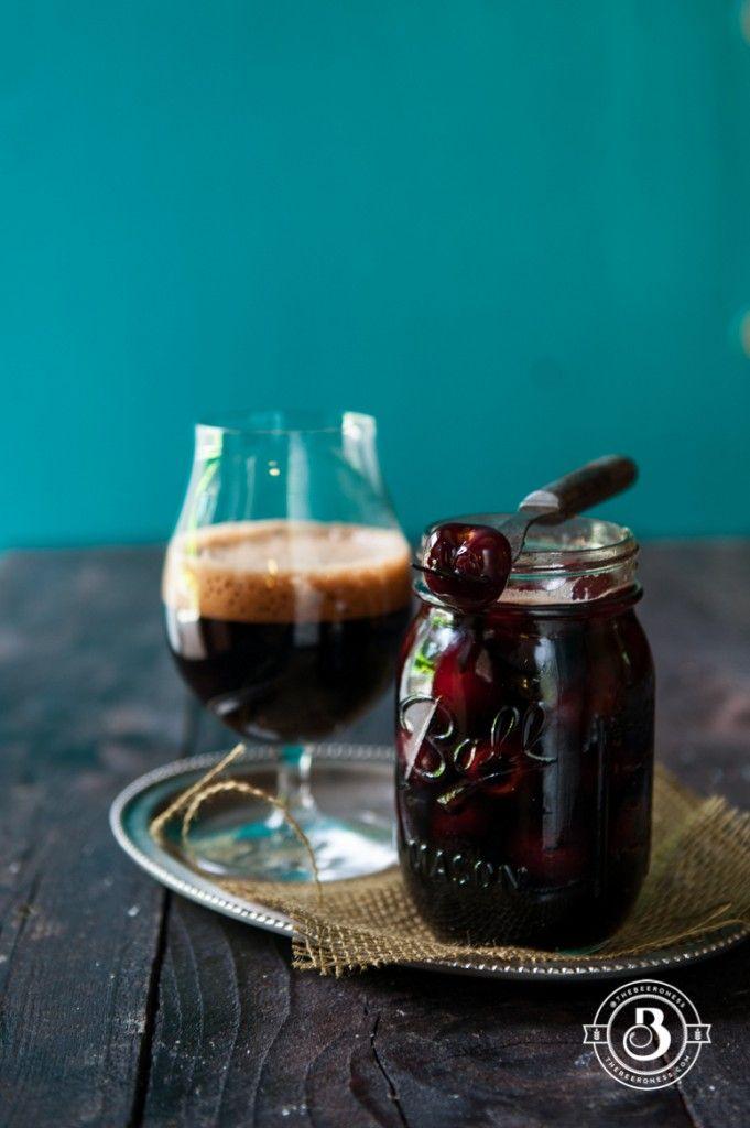 Bourbon Stout Cherries. Perfect for your next cocktail!