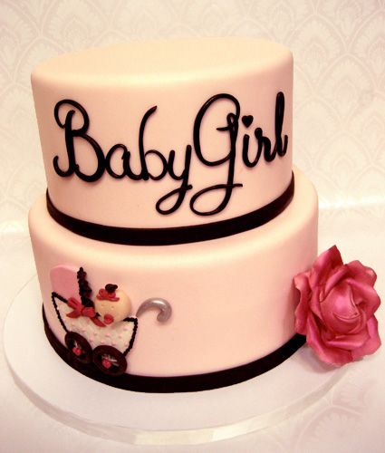 """Baby Girl"" Baby Shower Cake"
