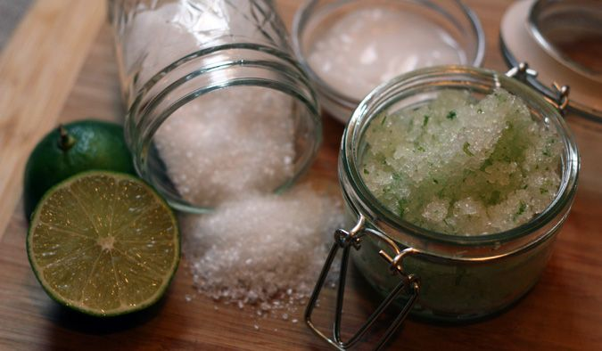 coconut lime scrub