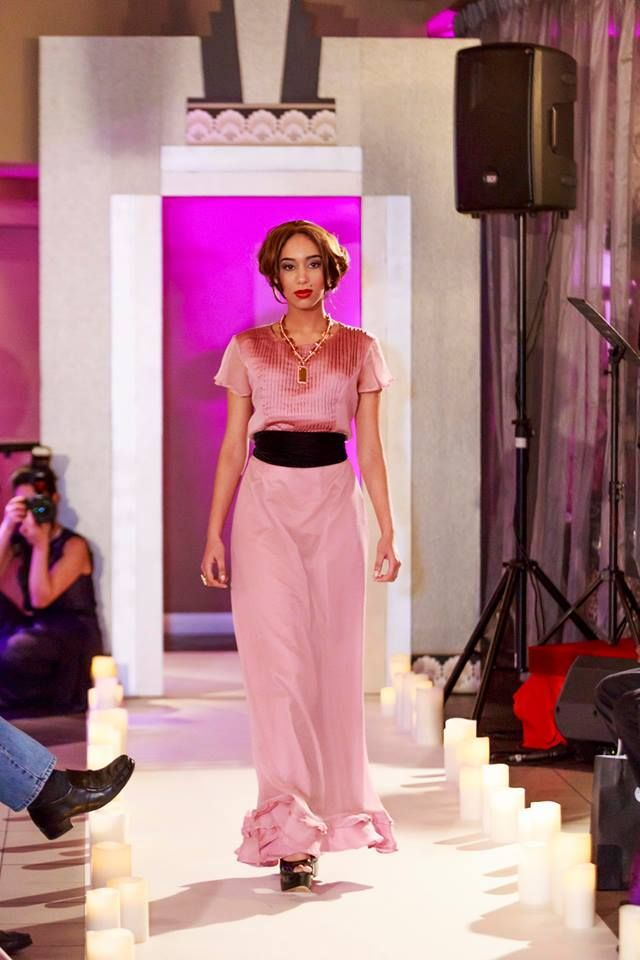 2014 MSFW Curated Program – ART du JOUR by Leiela, THE SPRING SOIRÉE featuring vintage inspired dress by Angie Lu, Archway by Style Precinct and candles by Enjoy Flameless Candles Australia