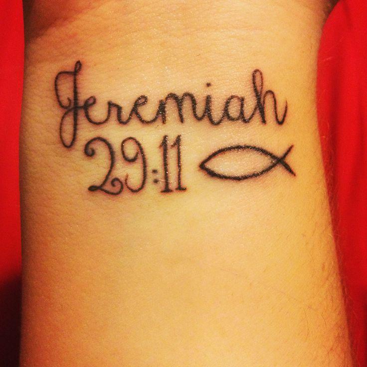 My Jeremiah 29:11 tattoo :) #tattoo