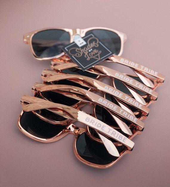 fae2187d05d5 Rose Gold Bachelorette Party Sunglasses Rose Gold Sunglasses Bride Tribe  Sunglasses Bridesmaid Rose