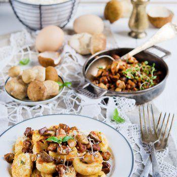 Gnocchi et ragout de champignons