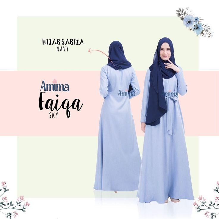 Gamis Amima Faiqa Dress Sky - baju gamis wanita busana muslim Untukmu yg cantik syari dan trendy . . Size Chart (XS) LD 92 PB 135 (S) LD 96 PB 137 (M) LD 100 PB 139 (L) LD 104 PB 141 (XL) LD 112 PB 144 . . - Material bahan : LINEN BURBERRY LUX seperti katun menyerap keringat dan tidak mudah kusut/lecek ada garis garis serat benang nya sedikit mengkilat bisa buat formal dan daily - Dress yang simple dengan aksen kerah bulat - Manset tangan zipper memudahkan berwudhu - Kantong tersembunyi pada…