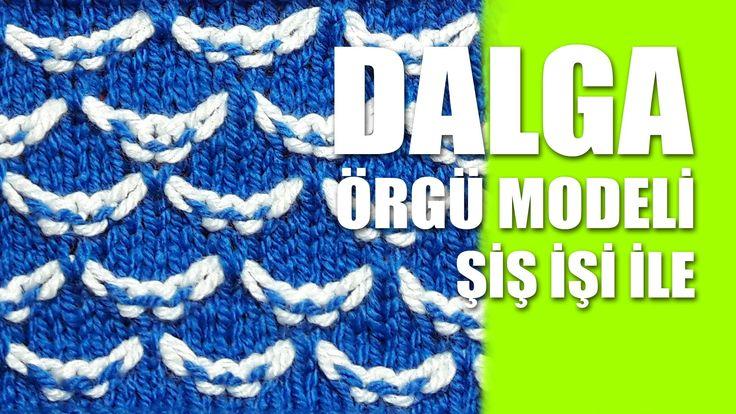 Dalga Örgü Modeli : Knitting Stitch Patterns Tutorials - Knitting Stitch...