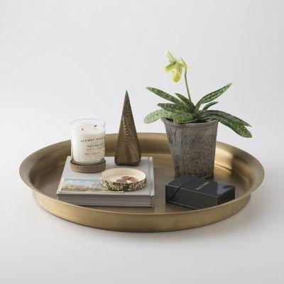 Round Brass Tray   Accessories   Dining + Kitchen