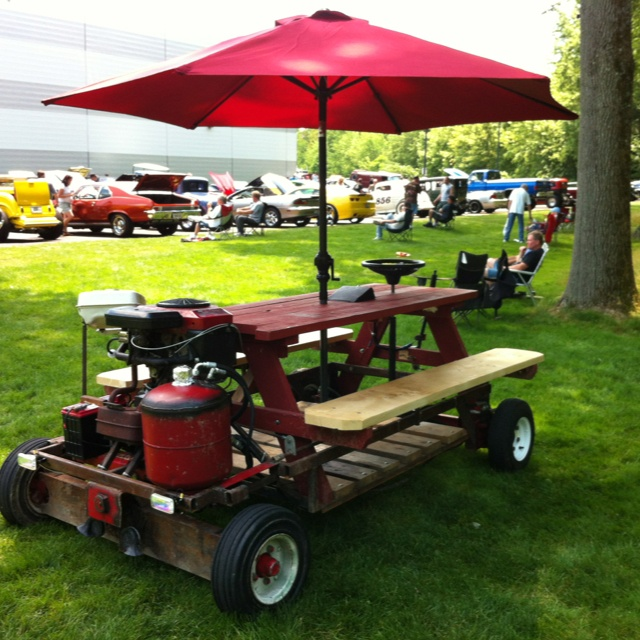 Gas powered picnic table supersummit auto related Motorized table