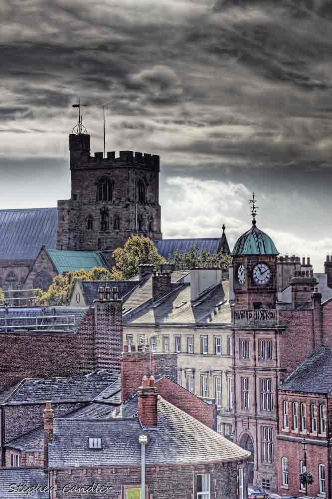 View From The Keep....  View of Carlisle Cathedral from the Keep at Carlisle Castle