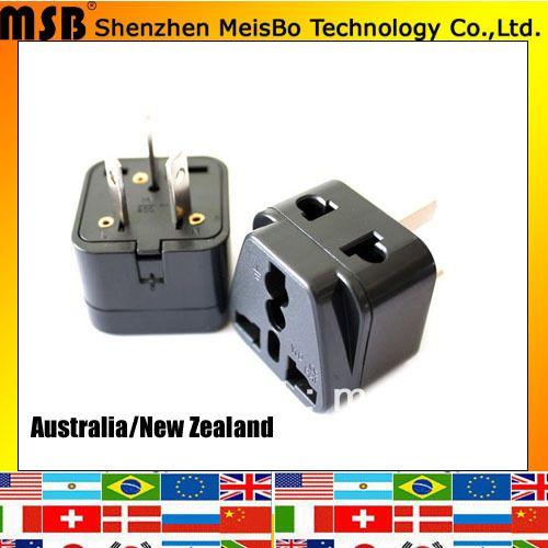 По всему миру путешествия 10A 250 В ABS материал 3 P AU универсальный разъем DC адаптер для Австралии 500 шт. бесплатная доставка по FEDEX