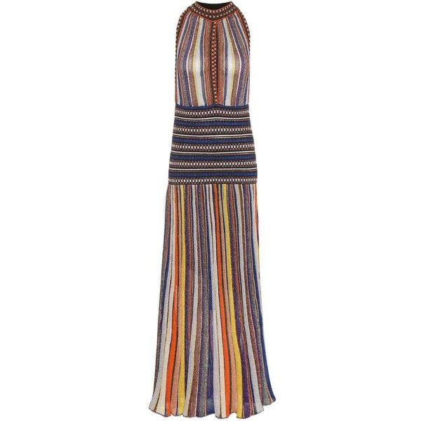 Missoni Metallic Maxi Dress ($2,050) ❤ liked on Polyvore featuring dresses, cocktail/gowns, multicoloured, holiday maxi dresses, holiday dresses, maxi dresses, metallic maxi dress and evening dresses