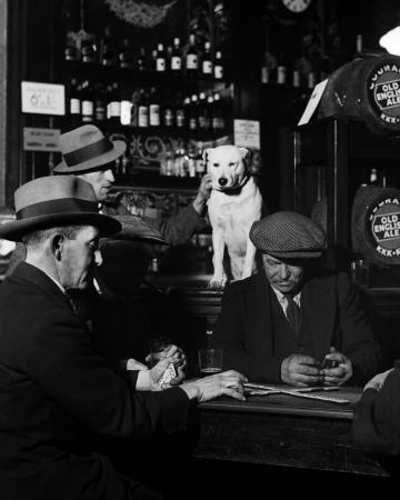 Bill Brandt - Domino Players, North London Pub, 1935