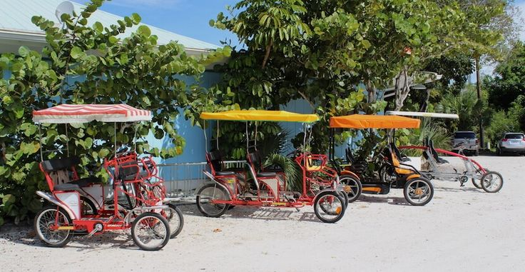 Finnimore's Cycle Shop Bike rentals for kids and adults, and Beach gear rentals on Sanibel Island, Florida.