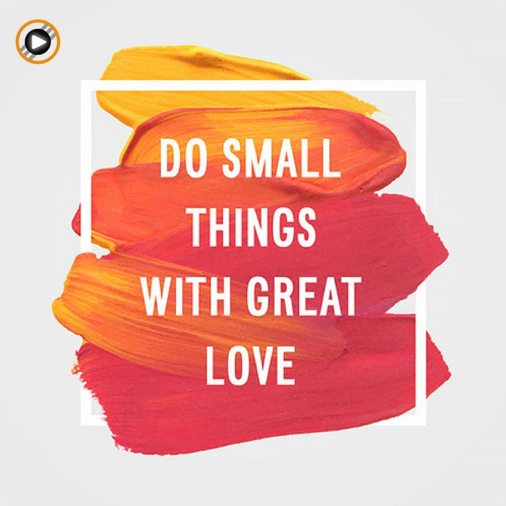 Little Bets have you heard of it? Do small things with Great Love! #love #littlebets #action