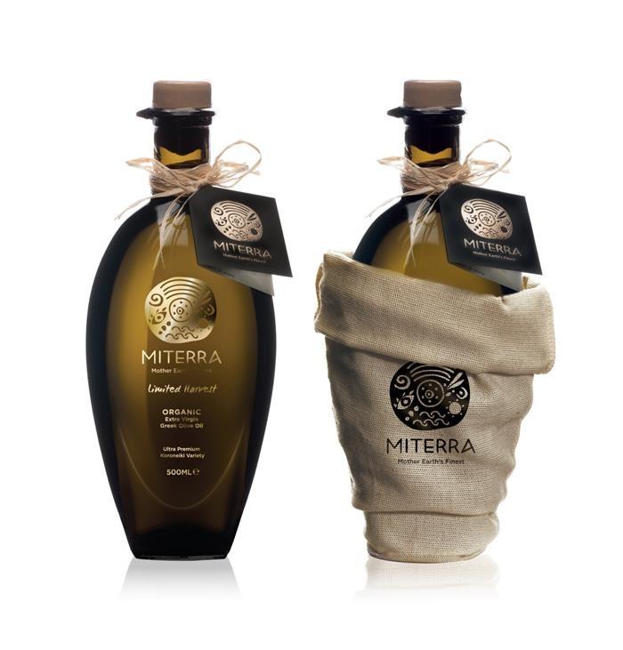 + Design de embalagem : Um trabalho de Sophia Georgopoulou, para as linhas de azeite de oliva da Miterra.