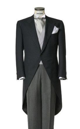 Grey morning suit