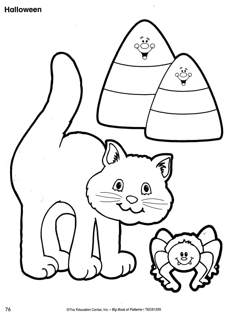 preschool halloween spider coloring pages - photo#25